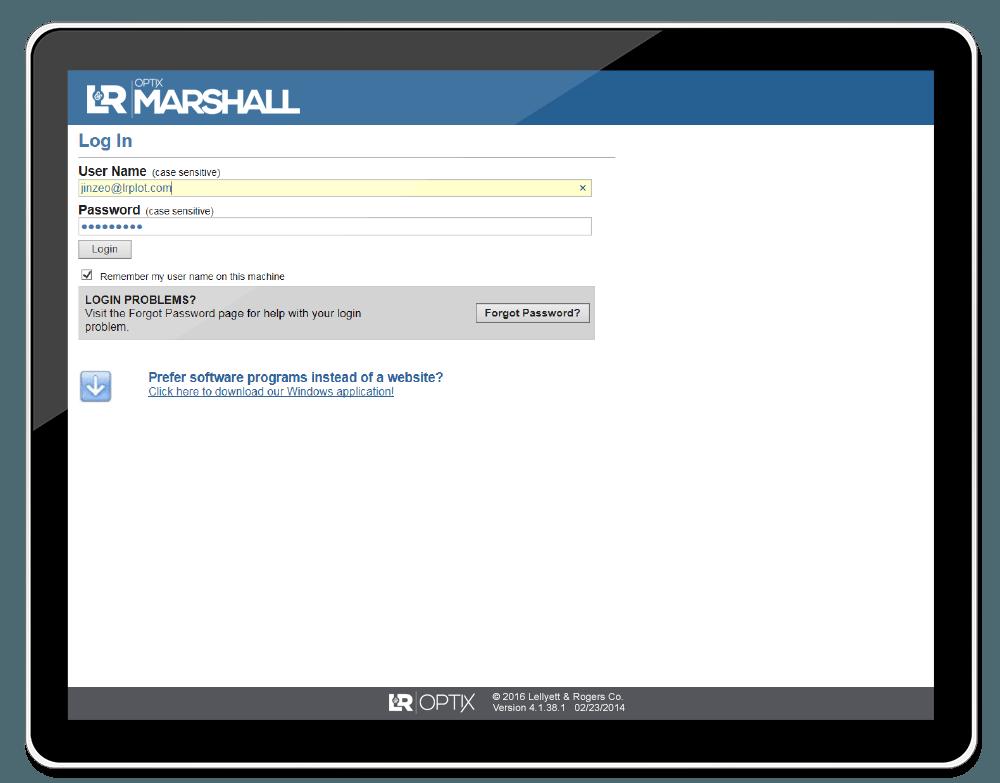 MARSHALL-login